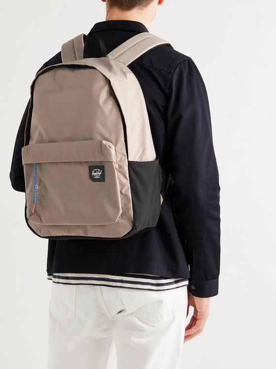 HERSCHEL SUPPLY CO Logo-Appliquéd Nailhead Dobby-Nylon Backpack