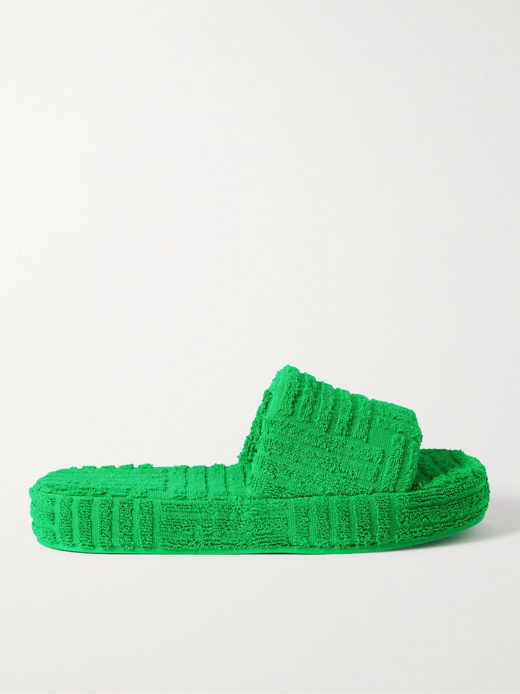 보테가 베네타 Bottega Veneta Terry Slides,Green