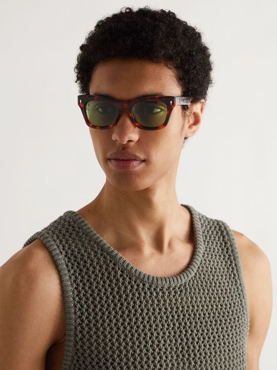 JACQUES MARIE MAGE Dealan Square-Frame Tortoiseshell Acetate Sunglasses