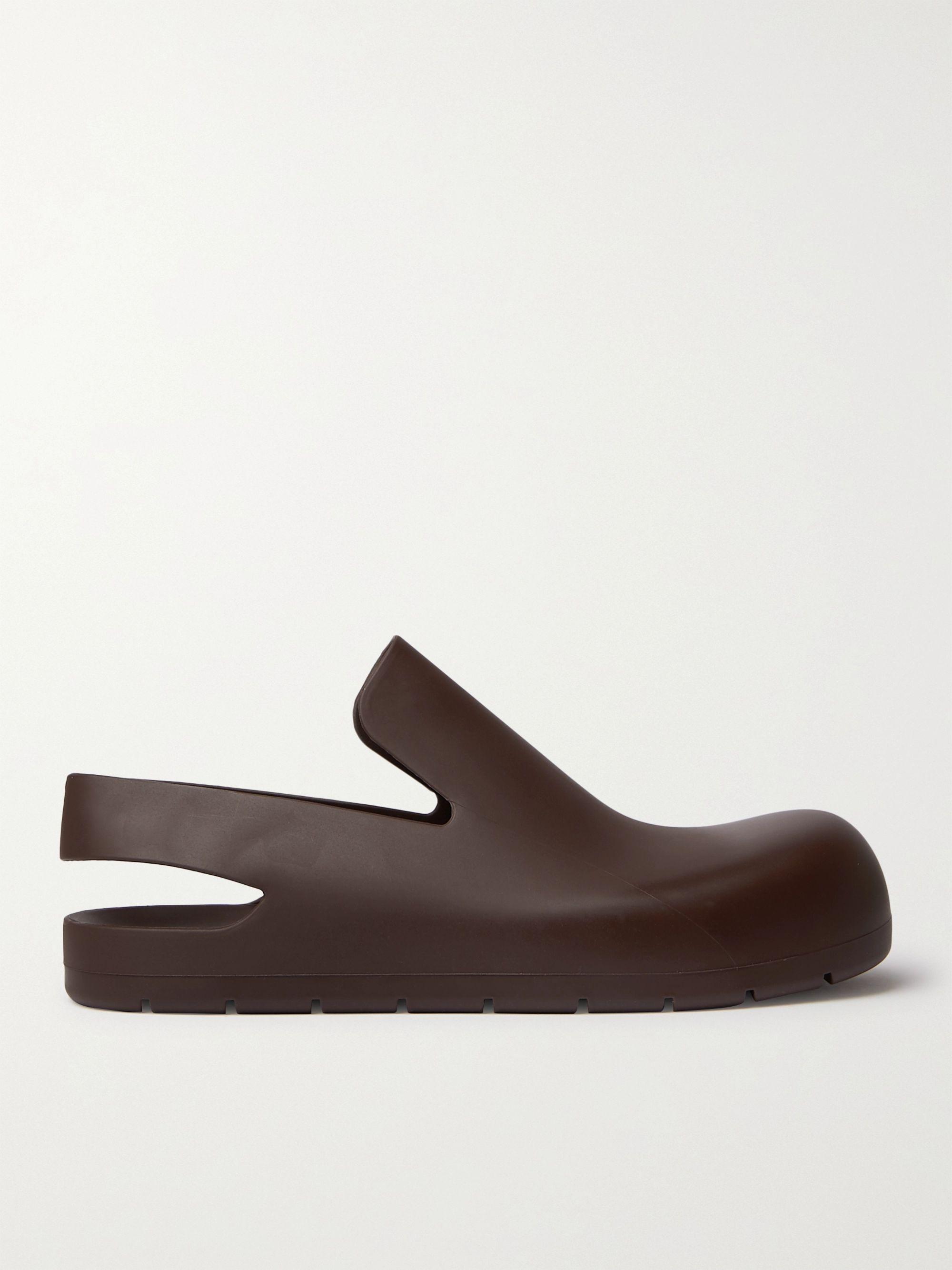 보테가 베네타 Bottega Veneta Rubber Sandals,Dark brown