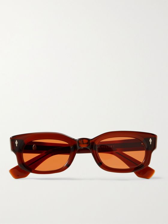 JACQUES MARIE MAGE Whiskeyclone Rectangular-Frame Acetate Sunglasses