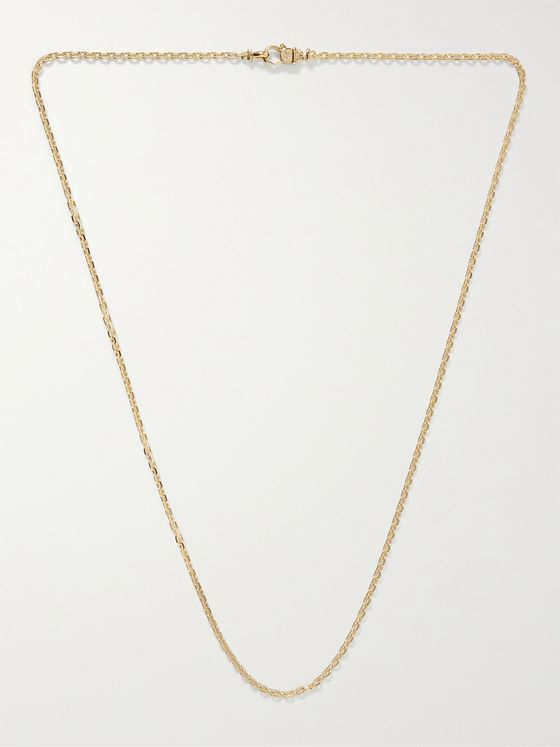 TOM WOOD Anker Gold-Plated Chain Necklace