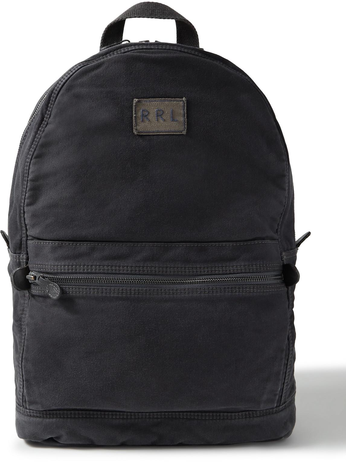 Rrl - Logo-Appliquéd Cotton Backpack - Men - Blue