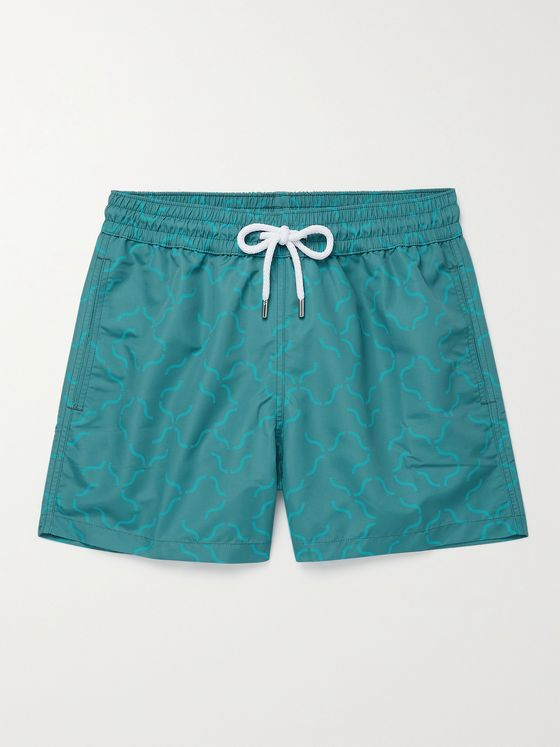 FRESCOBOL CARIOCA Slim-Fit Printed Short-Length Swim Shorts
