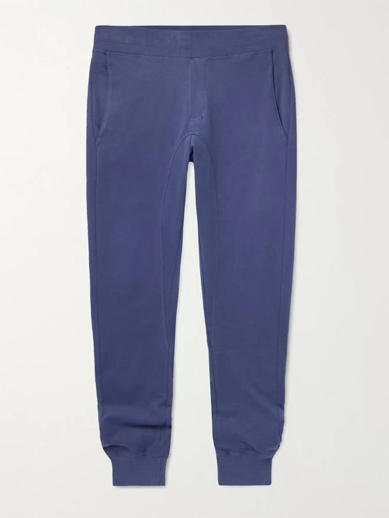 FRESCOBOL CARIOCA Ferreira Tapered Loopback Organic Cotton-Jersey Sweatpants