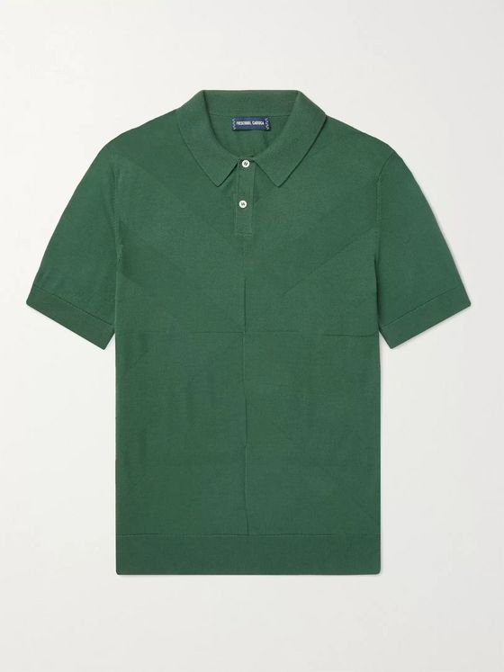 FRESCOBOL CARIOCA Francisco Cotton and Silk-Blend Jacquard Polo Shirt