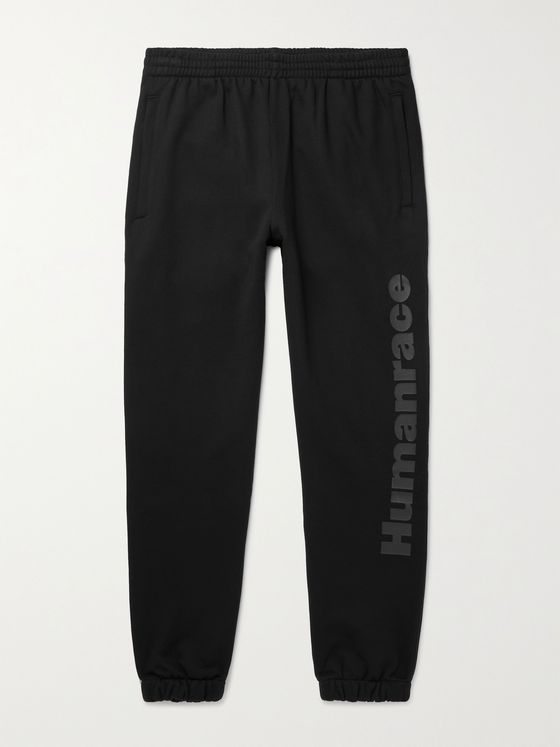 ADIDAS ORIGINALS + Pharrell Williams Tapered Logo-Print Loopback Cotton-Jersey Sweatpants