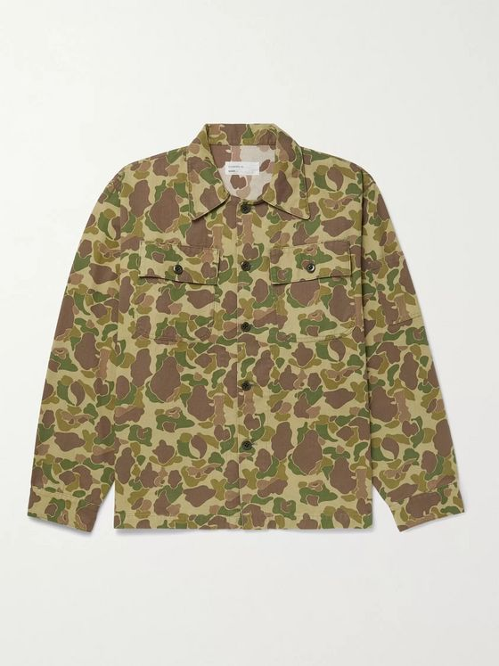 CHIMALA Camouflage-Print Cotton-Duck Shirt Jacket