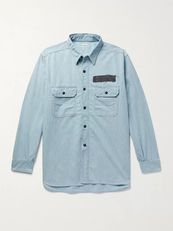 Chimala Paint-Detailed Cotton-Chambray Shirt