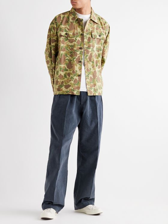 Chimala Cotton Dobby-Corduroy Pleated Trousers