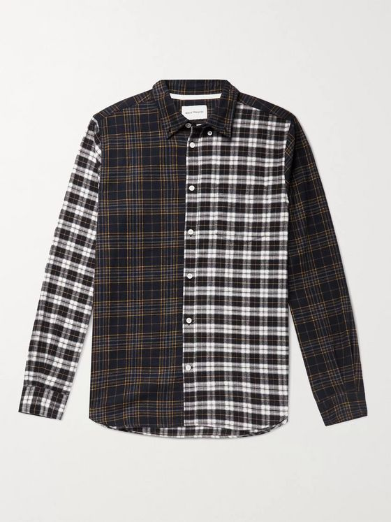 NORSE PROJECTS Osvald Button-Down Collar Checked Brushed Cotton-Flannel Shirt