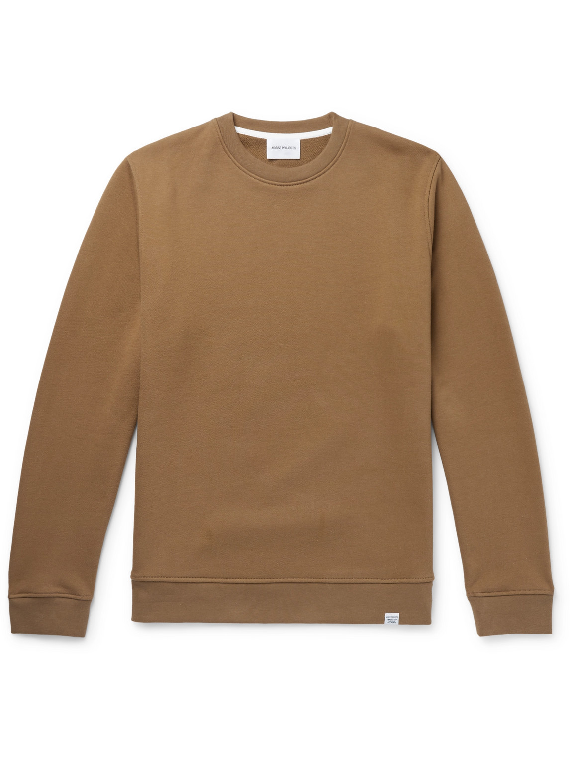 norse projects - vagn loopback cotton-jersey sweatshirt - men - brown - s
