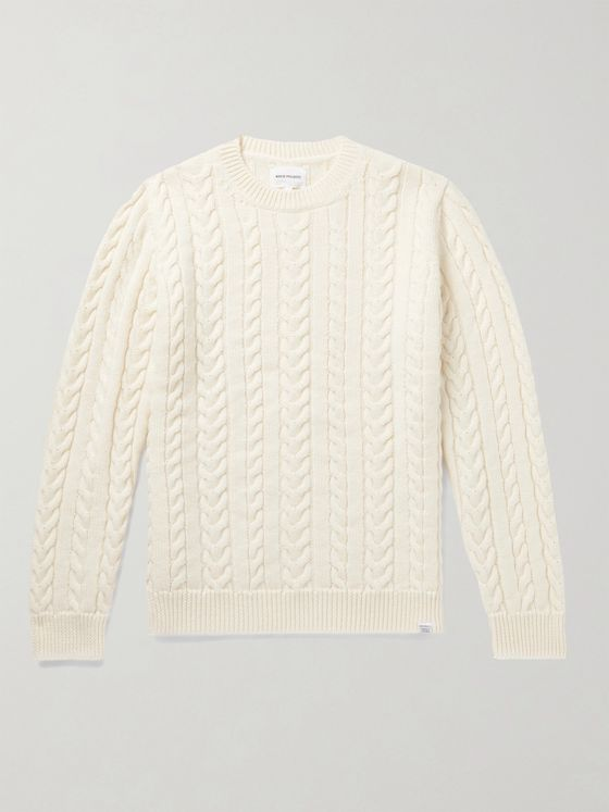 Norse Projects Arild Cable-Knit Wool Sweater