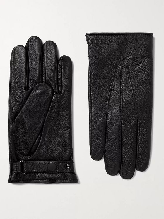 NORSE PROJECTS + Hestra Salen Merino Wool-Lined Full-Grain Leather Gloves