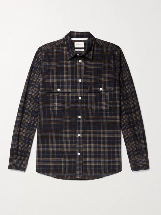 Norse Projects Villads Checked Brushed Cotton-Flannel Shirt