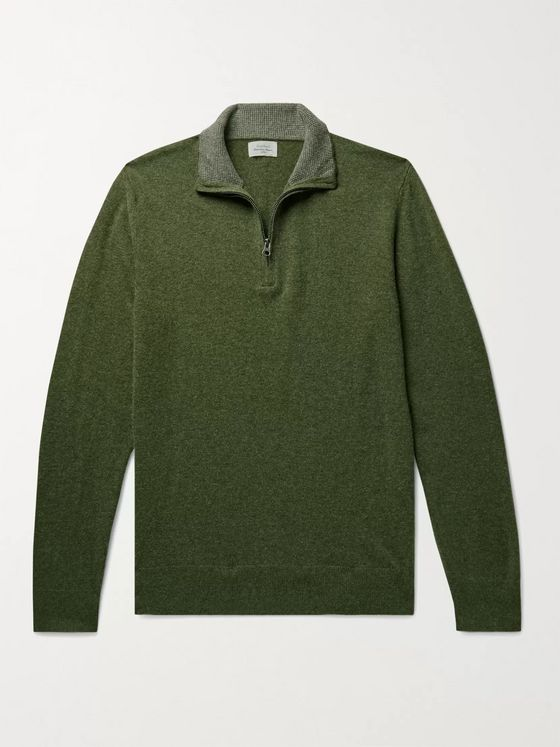 HARTFORD Slim-Fit Wool-Blend Half-Zip Sweater