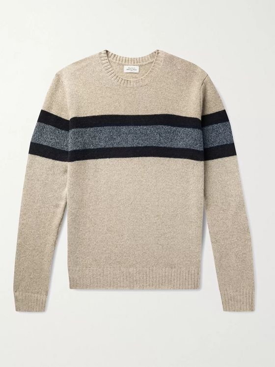 Hartford Striped Wool-Blend Sweater