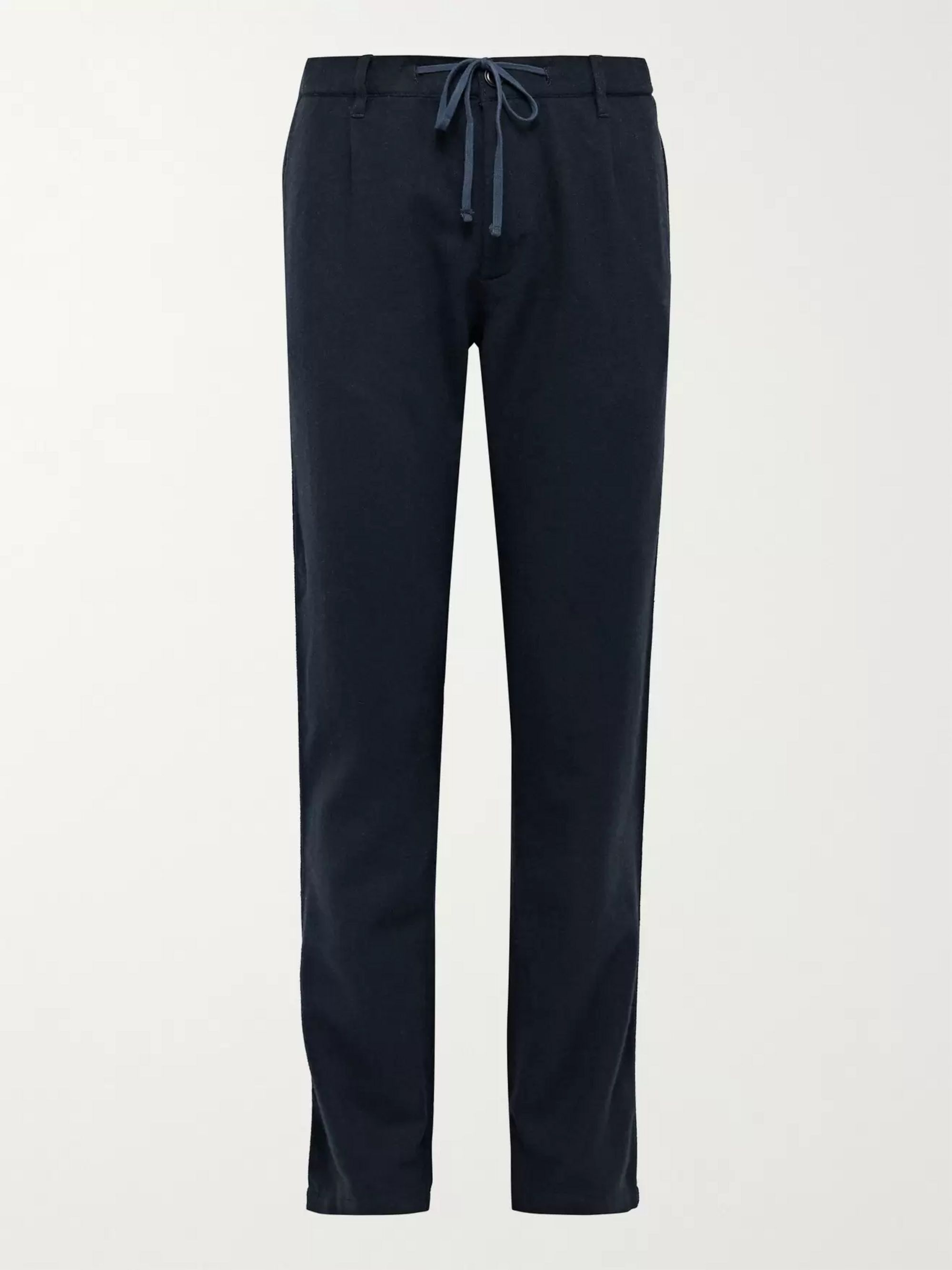 HARTFORD Tanker Tapered Pleated Wool-Blend Flannel Trousers