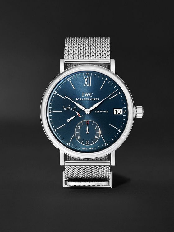 IWC SCHAFFHAUSEN Portofino Hand-Wound Eight Days 45mm Stainless Steel Watch, Ref. No. IWIW510116