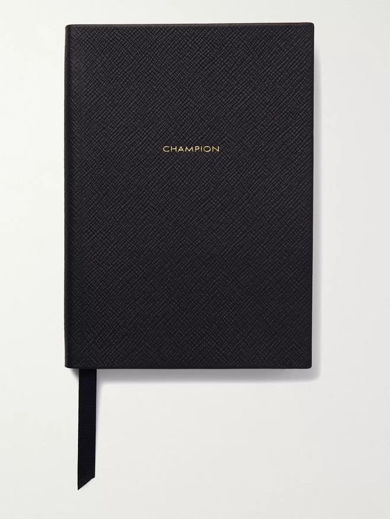 SMYTHSON Champion Soho Cross-Grain Leather Notebook