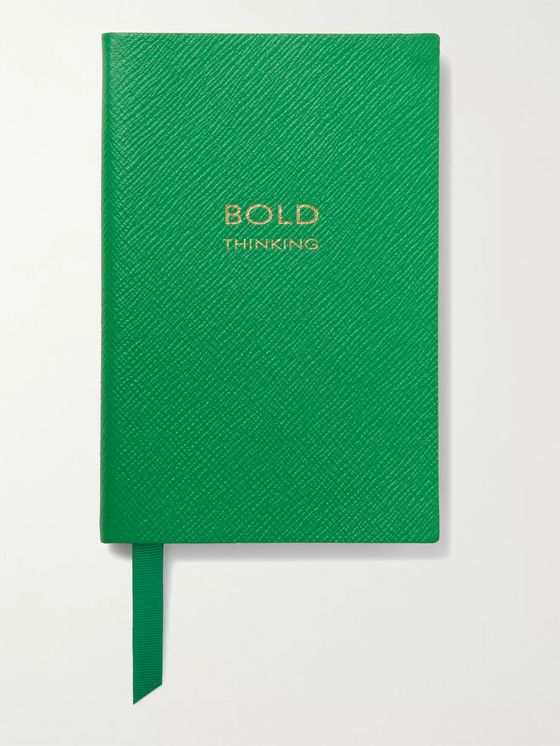 SMYTHSON Bold Thinking Chelsea Cross-Grain Leather Notebook
