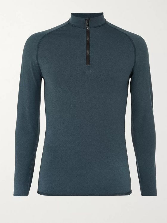 Orlebar Brown Bray Tech-Jersey Half-Zip Rash Guard