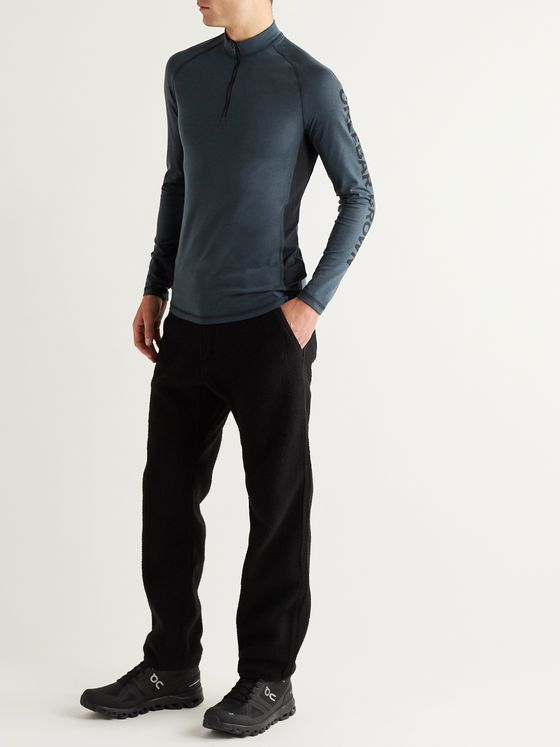 ORLEBAR BROWN Shark Capsule Bray Tech-Jersey Half-Zip Rash Guard