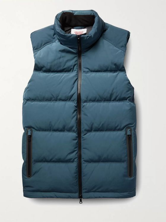 Orlebar Brown Shark Capsule Sommers Quilted Shell Hooded Down Gilet