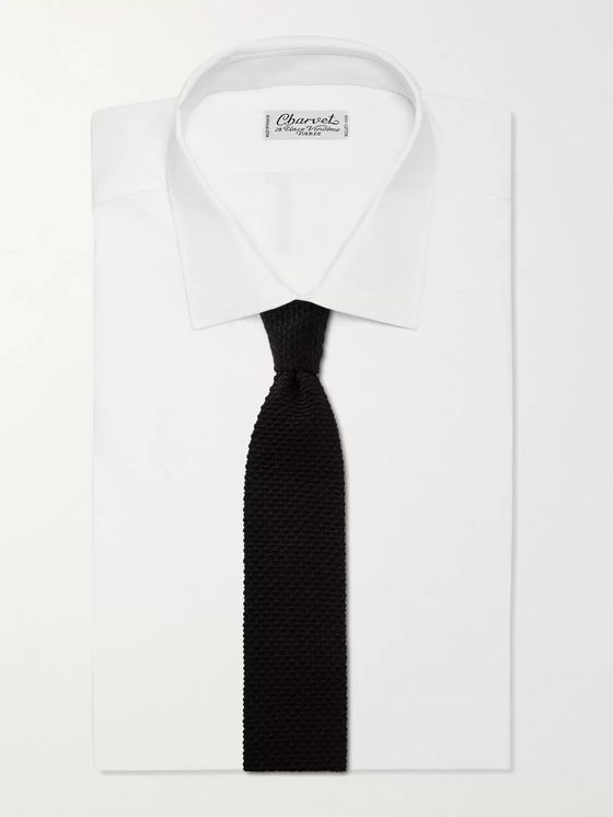 SUNSPEL + Ian Fleming Knitted Silk Tie