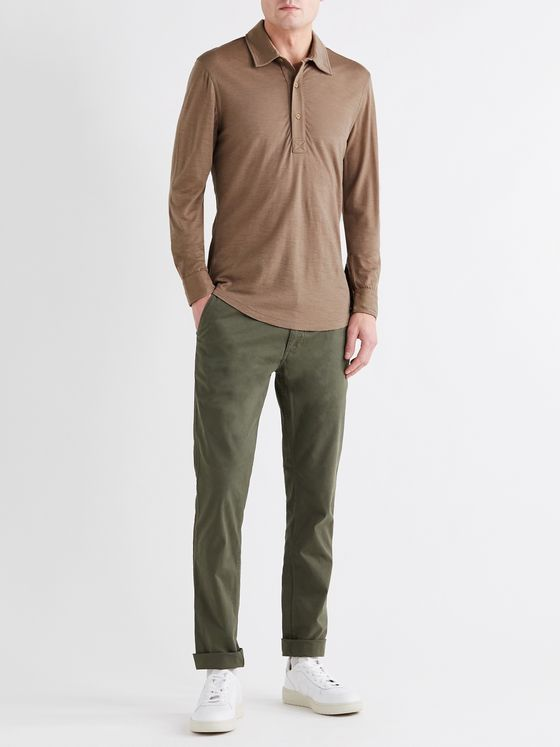 ORLEBAR BROWN Sebastian Merino Wool Polo Shirt