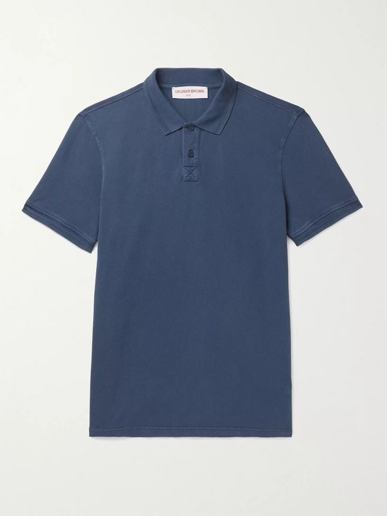 ORLEBAR BROWN Jarrett Washed Cotton-Piqué Polo Shirt