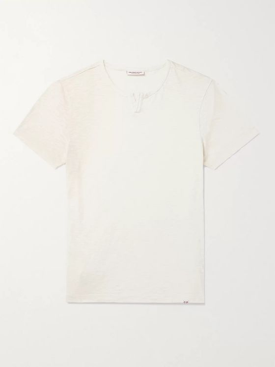 ORLEBAR BROWN Ackley Garment-Dyed Slub Cotton-Jersey T-Shirt