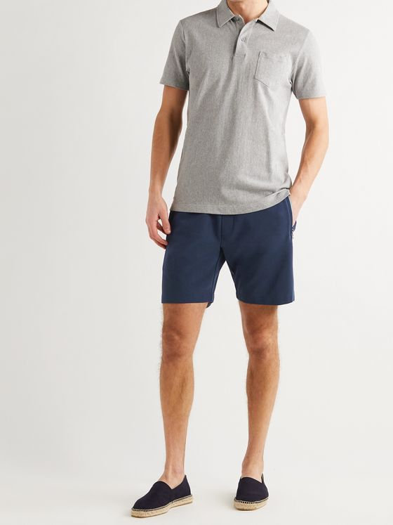 ORLEBAR BROWN Afador Double-Faced Cotton-Blend Piqué Drawstring Shorts