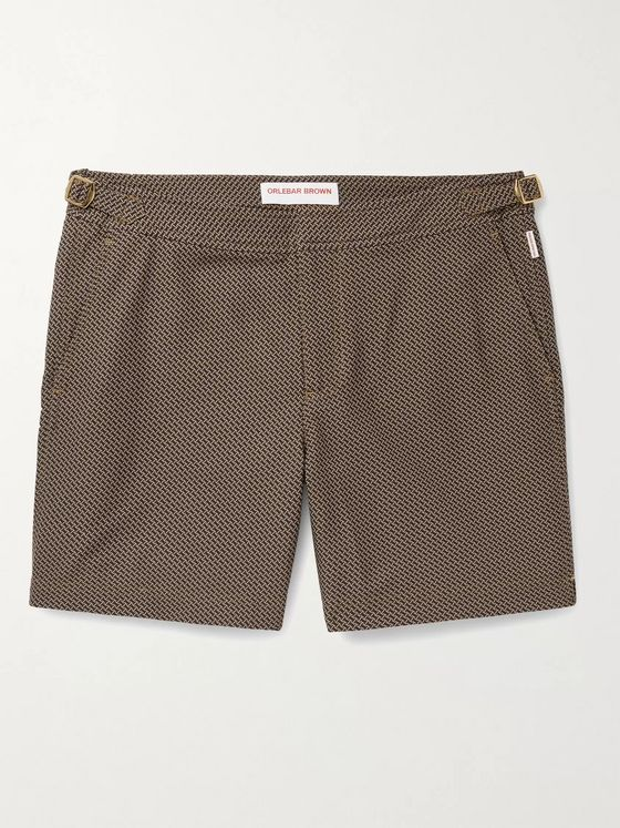ORLEBAR BROWN Bulldog X Maho Slim-Fit Mid-Length Jacquard Swim Shorts