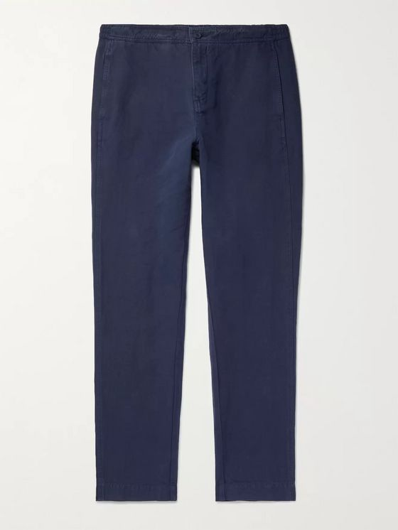 ORLEBAR BROWN Ackens Linen and Cotton-Blend Drawstring Trousers