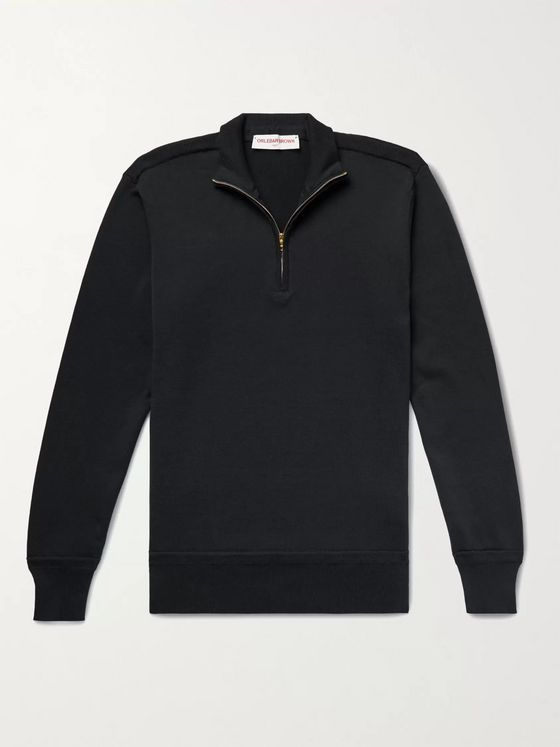 ORLEBAR BROWN Lennard Slim-Fit Sea Island Cotton Half-Zip Sweater