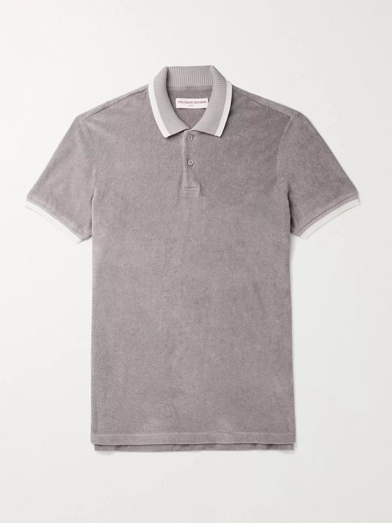 ORLEBAR BROWN Jarrett Contrast-Tipped Cotton-Terry Polo Shirt