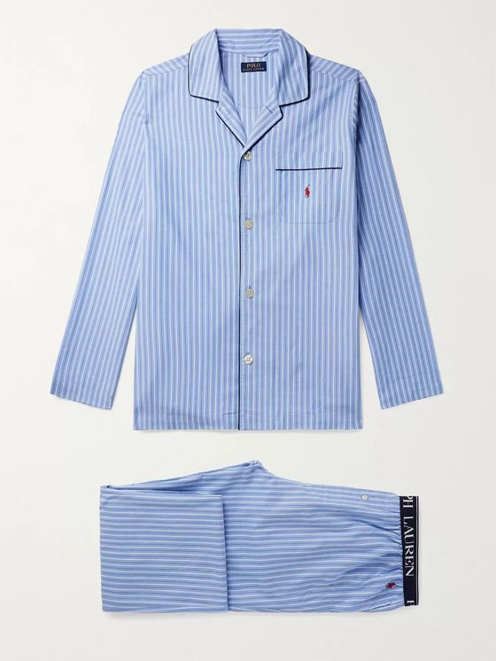 POLO RALPH LAUREN Striped Cotton-Poplin Pyjama Trousers