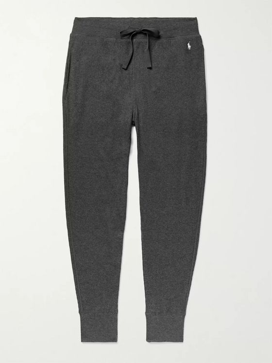 POLO RALPH LAUREN Slim-Fit Tapered Waffle-Knit Cotton-Blend Jersey Pyjama Trousers