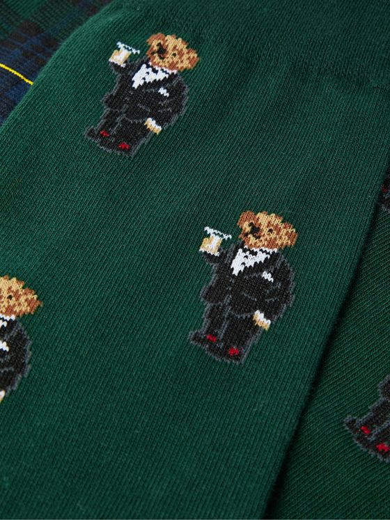 POLO RALPH LAUREN Three-Pack Logo-Embroidered Cotton-Blend and Stretch-Knit Socks
