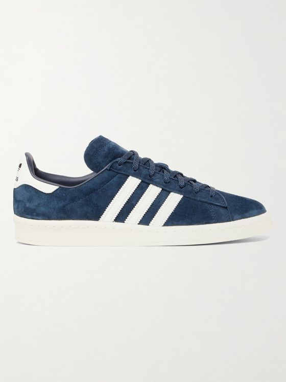 ADIDAS ORIGINALS Campus 80s Leather-Trimmed Suede Sneakers