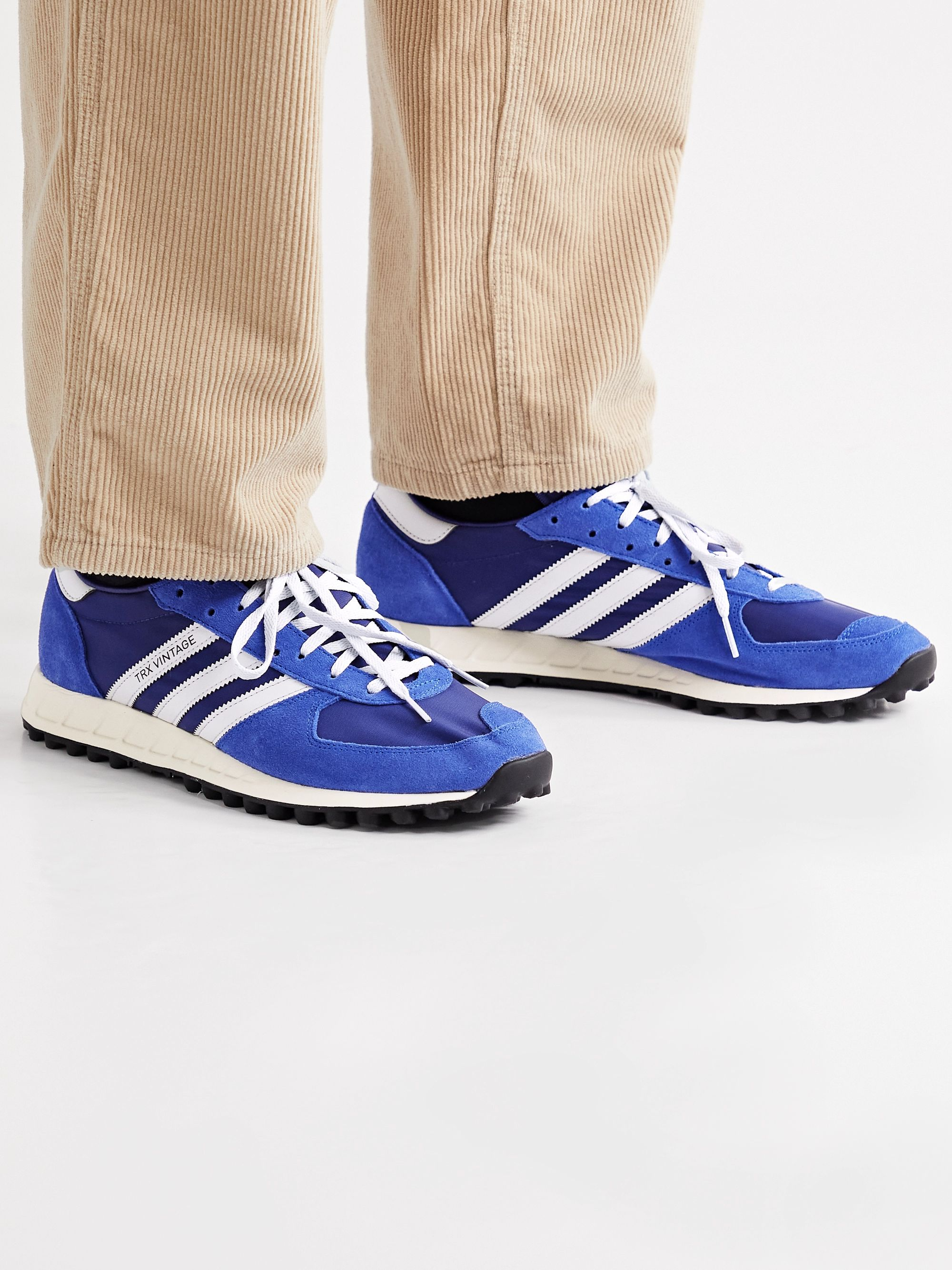 SPEZIAL TRX Vintage Leather-Trimmed Shell and Suede Sneakers