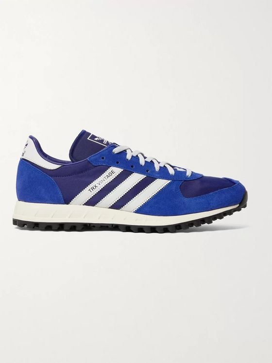 ADIDAS ORIGINALS SPEZIAL TRX Vintage Leather-Trimmed Shell and Suede Sneakers