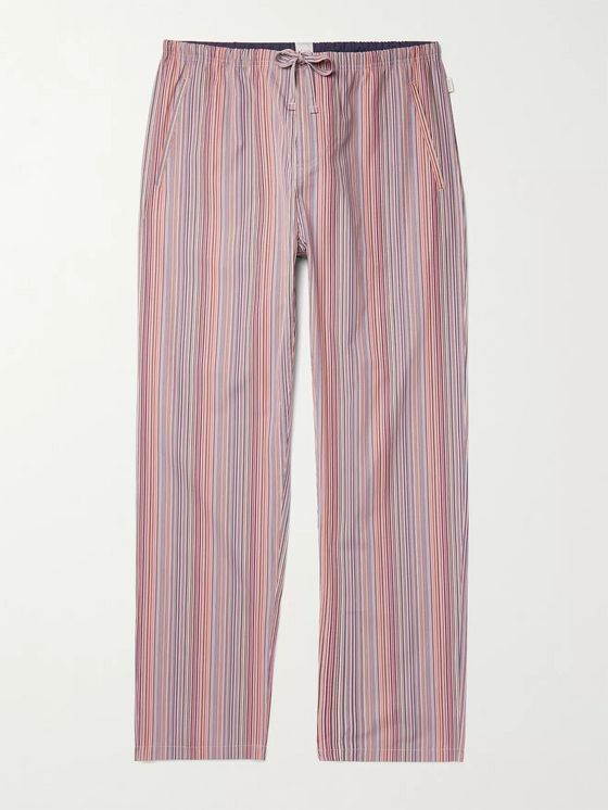 PAUL SMITH Striped Cotton Drawstring Pyjama Trousers
