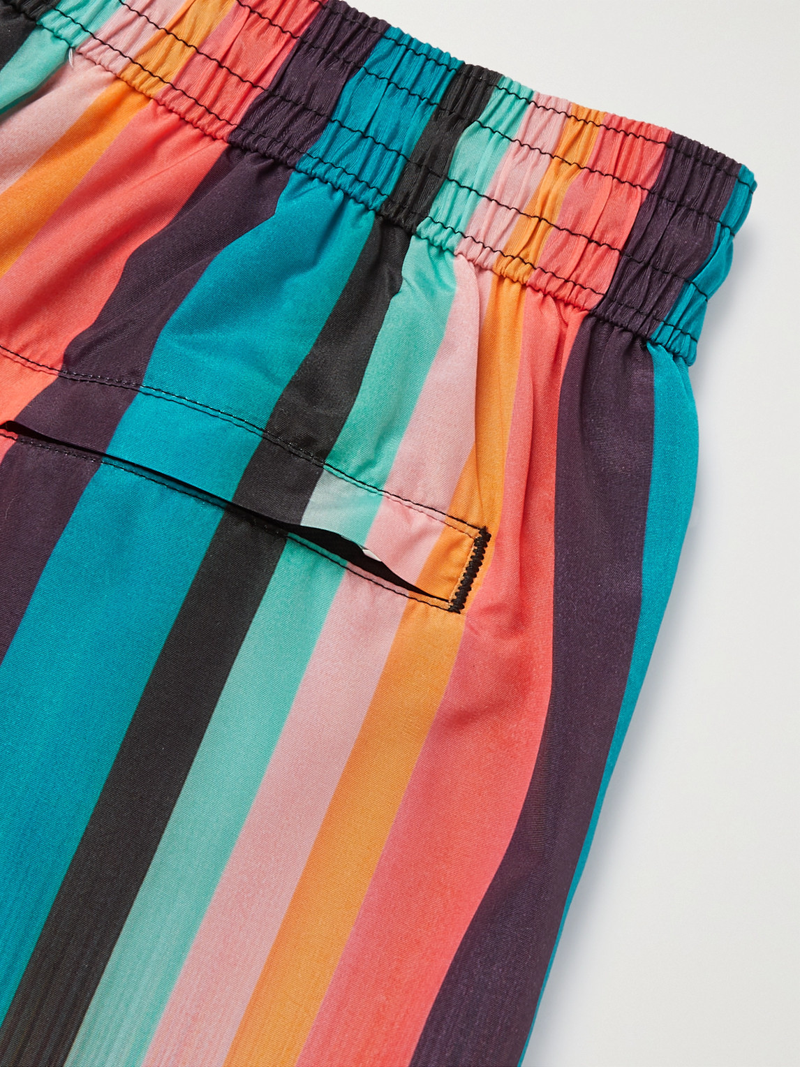 PAUL SMITH Linings MID-LENGTH STRIPED SHELL SWIM SHORTS
