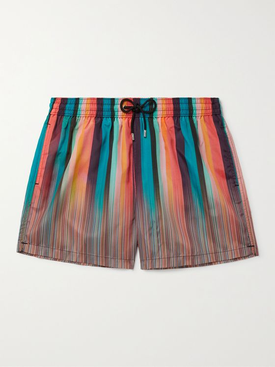 PAUL SMITH Mid-Length Striped Shell Swim Shorts