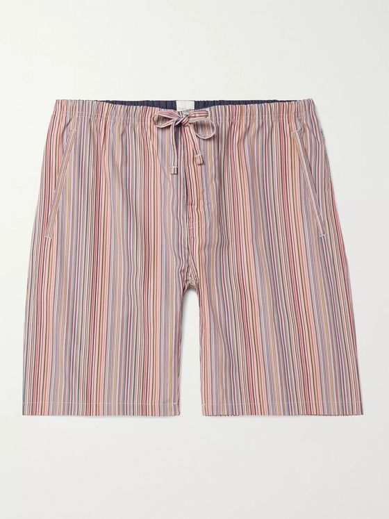 PAUL SMITH Striped Cotton Drawstring Pyjama Shorts