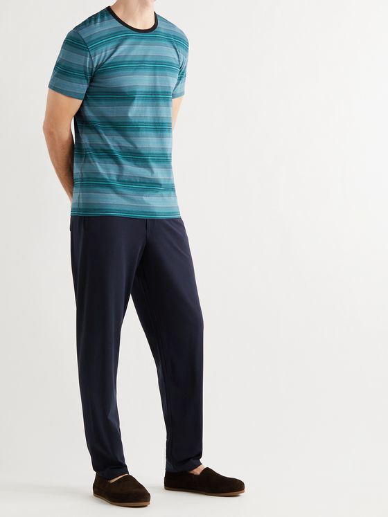 PAUL SMITH Striped Stretch Cotton-Blend Pyjama T-Shirt