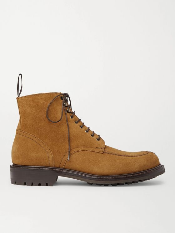 MR P. Heath Goodyear-Welted Split-Toe Suede Boots