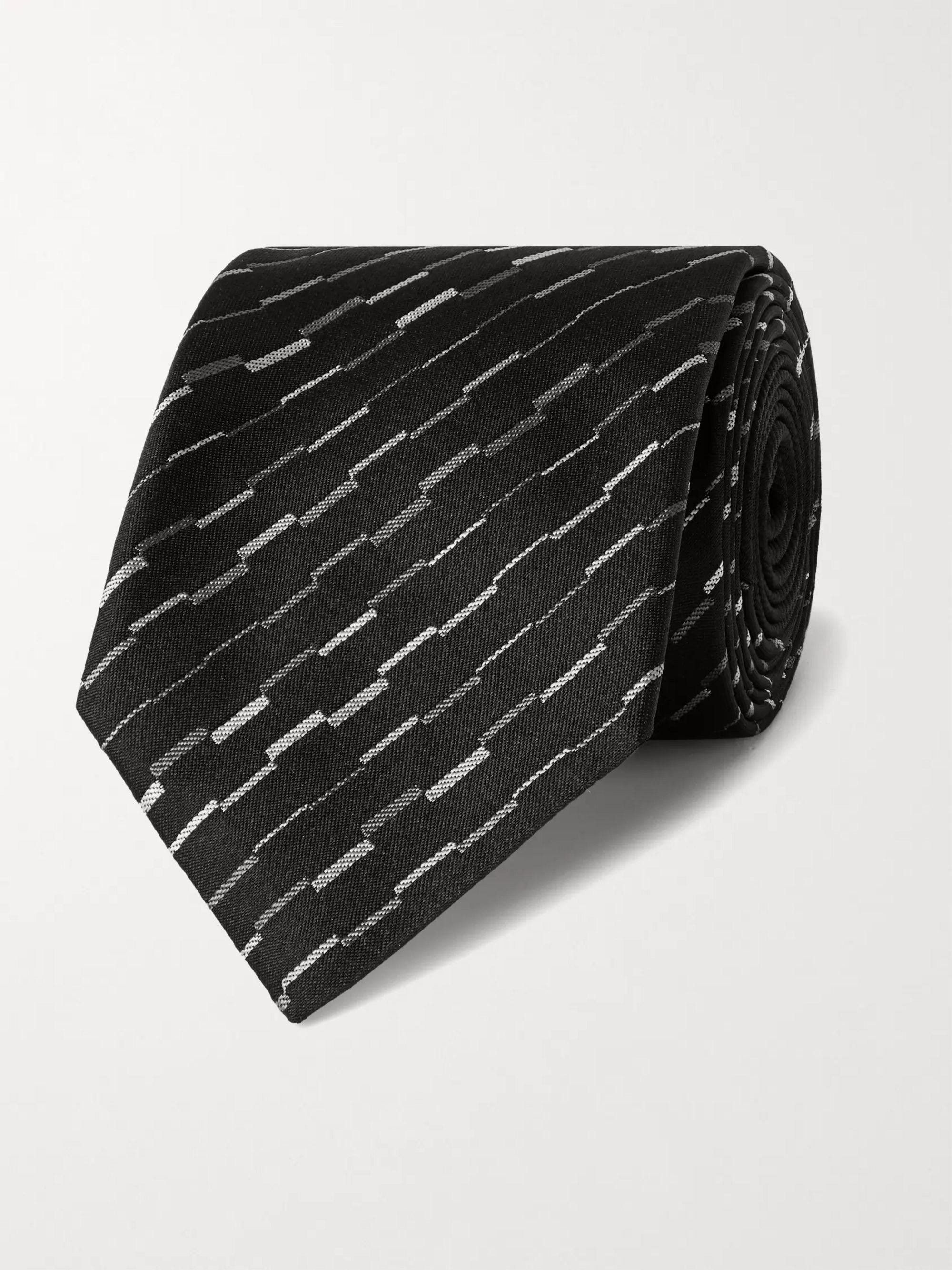 미쏘니 Missoni 7cm Silk-Jacquard Tie,Black